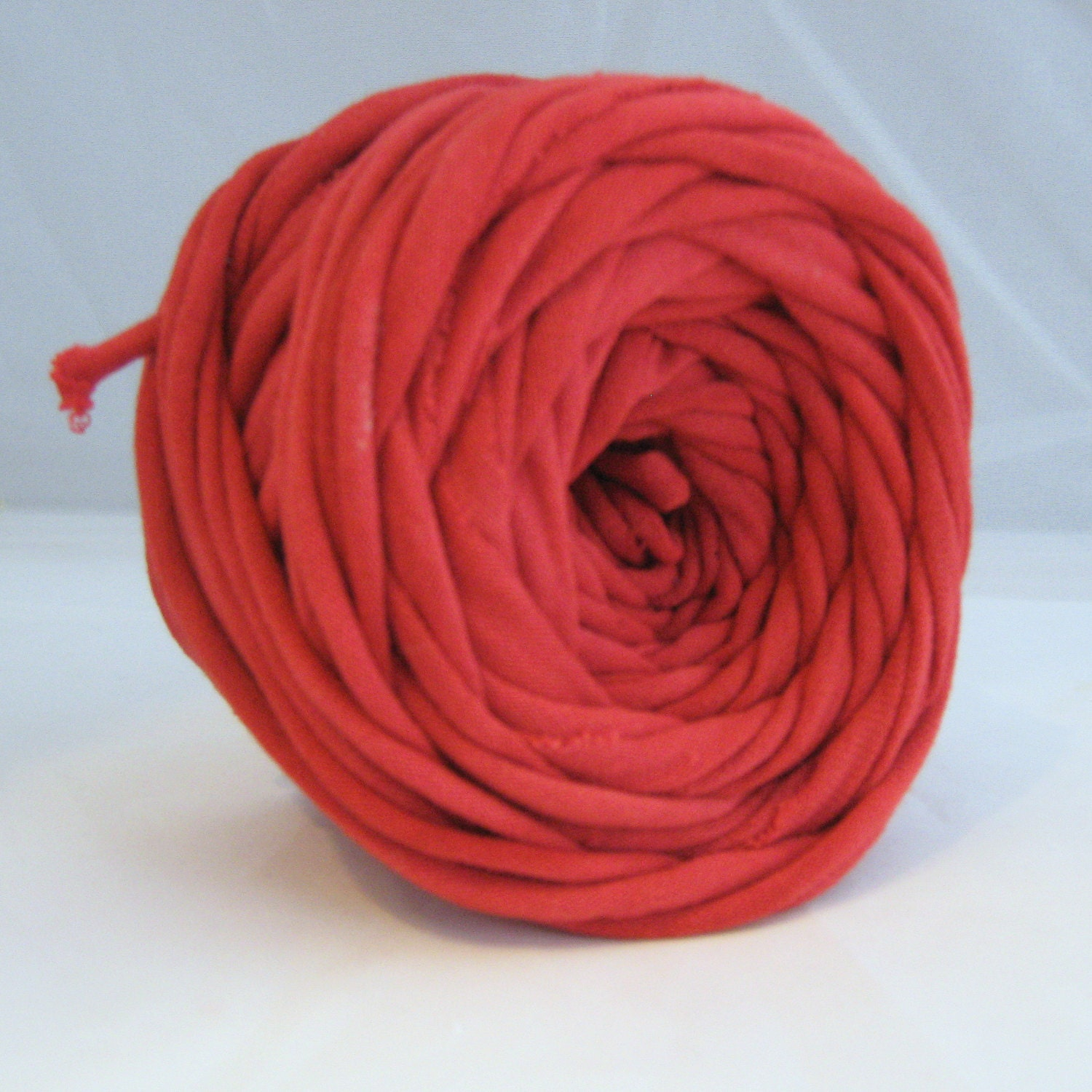T Shirt Yarn Hand Dyed True Red 30 Yard Thick Red