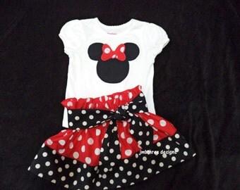 Minnie skirt set size 12m-6y