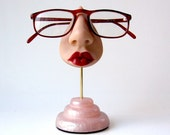 Women's Eyeglass Holder, Snazzy Sunglasses Display Stand, Eyewear accessory, A Spare Face to Show Off Your Shades.