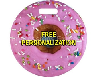 Pink Doughnut Personalized Luggage Bag Tag