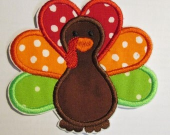 Thanksgiving Turkey Iron On Appliques - For Boys & Girls