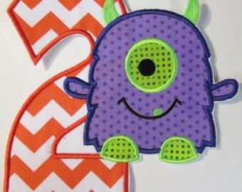 Iron On Applique - Lil Monster Birthday