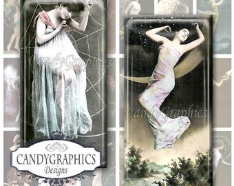 Fantasy Ladies - 1x2 inch rectangles Great for Bamboo and Tile Pendants - Buy 2 Get One FREE