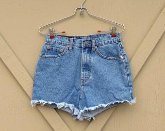 vintage Jordache Denim High Waist Cut Off Jean Shorts