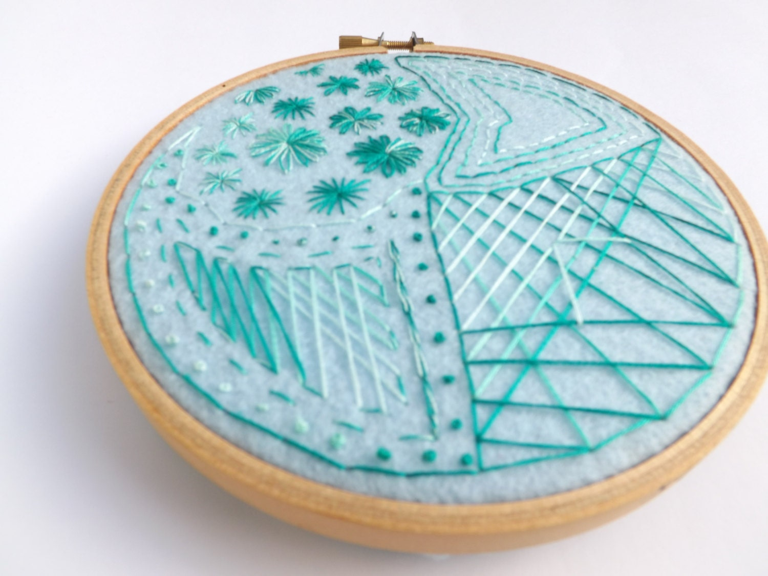 Embroidery hoop wall hanging handmade by stitchcreations