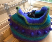 cat bed felted made to order cat cave