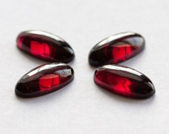 ONE 7mm x 14mm Oval Garnet Cabochons | Natural Red Almandine cabochon | Red Garnet Cabochon