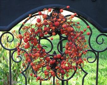 Mini Berry Wreaths, Wedding Wreaths, CandleSticks, Decorative Wreaths, Wedding Decor, Fall Wreaths, Harvest Wreaths, Berries