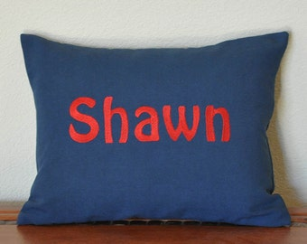 Personalized Pillow Lumbar Pillow Cover Choose Your Colors Wedding Shower or Baby Gift teen gift