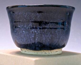 Small Ramekin. Black & Turquoise. Northern Lights Combo. #2
