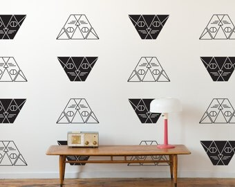Geometric Modern Cat Vinyl Wall Decals- Set of 16 Graphics, Wallpaper, Stickers,  item 10044