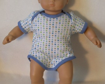 15 inch Doll Onesie with BlueTrim