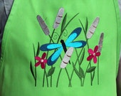 Dragonfly with Cattails Apron