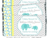 YOU PRINT - Baby Shower Candy Wrappers - Chocolate Bar Candy Wrappers - baby shower, chevron design