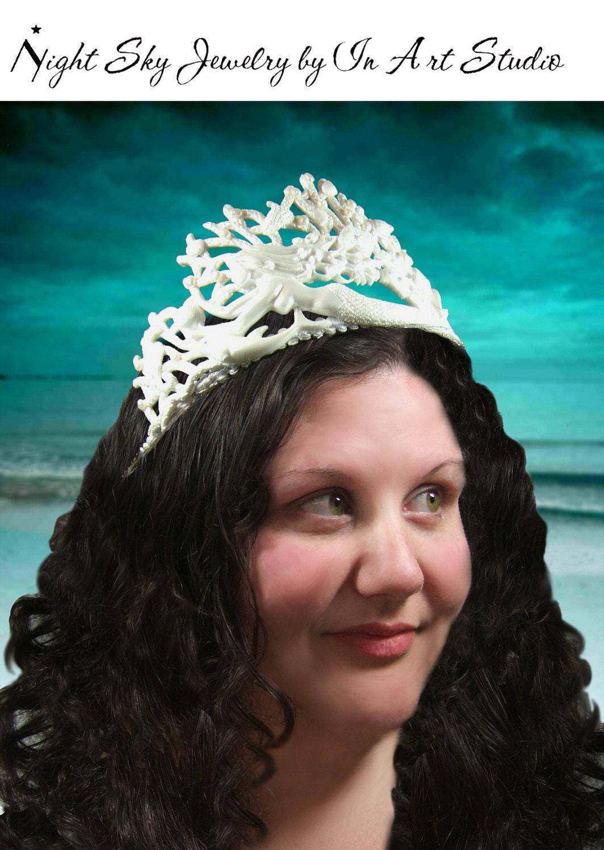 Pearl Mermaid Tiara Mermaid Bride Jewelry Headpiece Beach