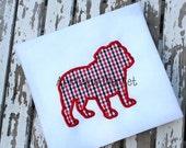 Machine Embroidery Design Applique Bulldog 2 INSTANT DOWNLOAD