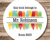 Crayons Personalized Stickers or Tags