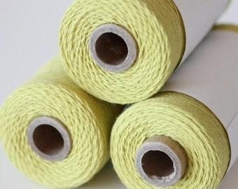 240 Yards (Full Spool) of Bakers Twine . Solid Honeydew Green