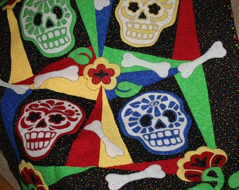Day of the Dead Lap Quilt