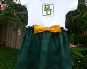 Baylor University Baby Girls Boutique Dress Onesie