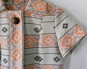 Incredible 1960s southwestern print sheath dress