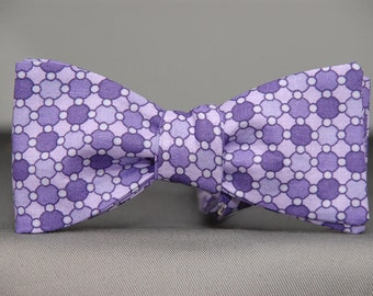 Purple Dots on Purple Dots  Bow tie