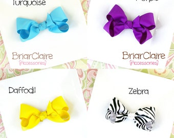 Sandra - Classic Boutique Bow Alligator Clip (many colors available)