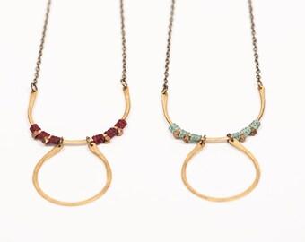 Brass Tramonto Necklace