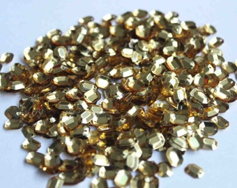 100 Oval Sequins/Golden color/KBOS358
