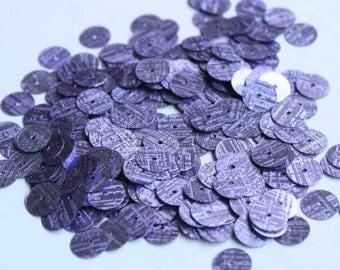 100 Purple / Line Texture / Round Sequins/KBRS139