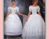 Civil War Era CRINOLINE HOOPSKIRT-Two Styles & PETTICOAT- Designer Sewing Pattern-Authentic Historical Style-Uncut -Size 6-12 -Opp- Rare