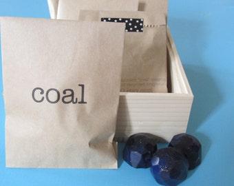lump of coal crayon favor