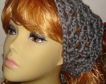 Crochet Sierra Mountain Double Cluster Kerchief Bandana Scarf-Fashion accessory/Fall Accessories/Women's Accessories/Neck Scarf/Teens