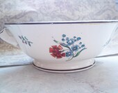 Vintage 1904 Mintons Hand-Painted China Pedestal Serving Bowl with Handles