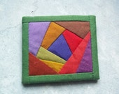 Vintage Artist Made Fabric Brooch Wearable Art