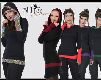 3Elfen Summerhoodie with cuffs