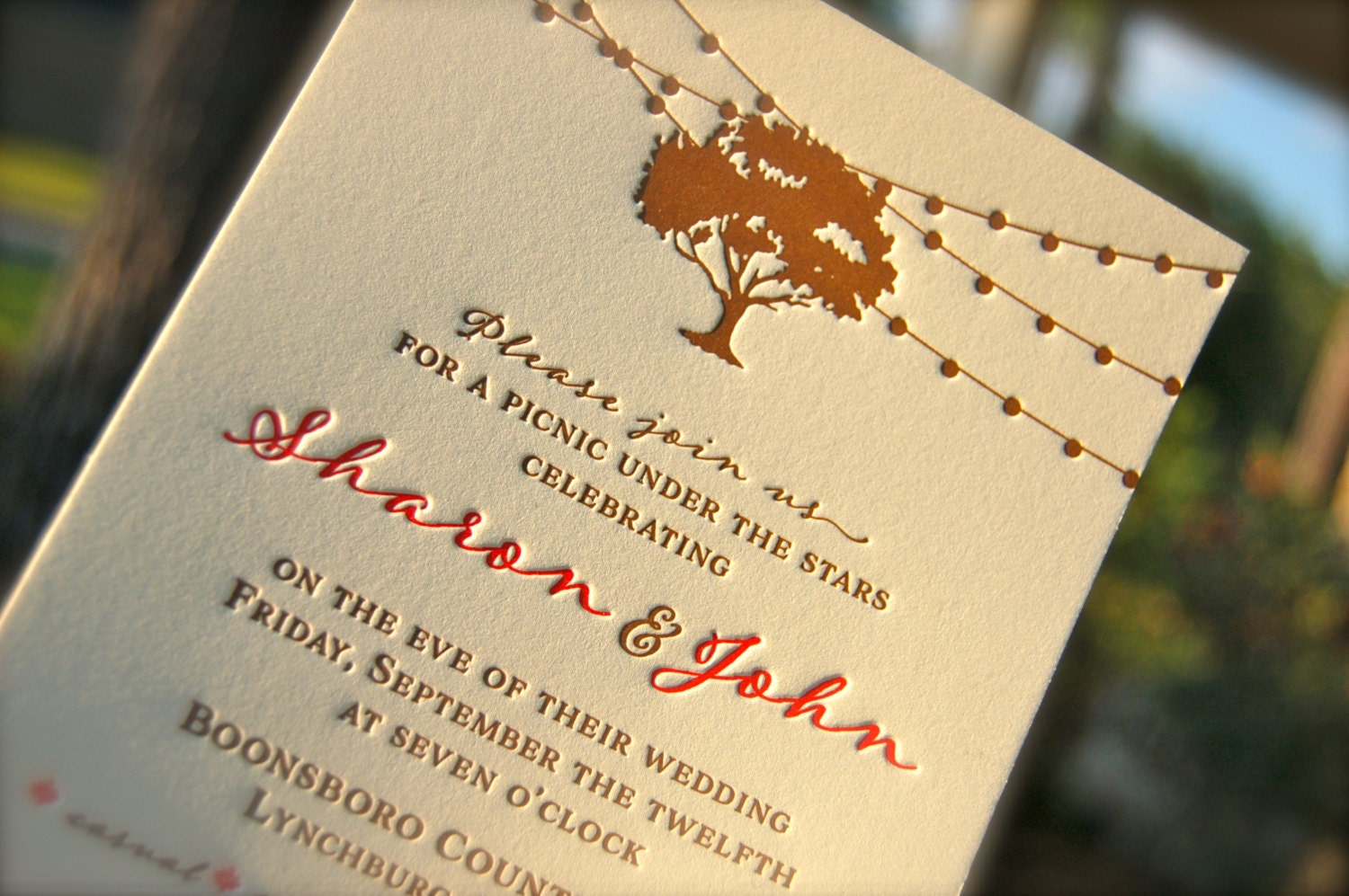 Wedding Invites Letterpress: Letterpress Wedding Invitation Letterpressed Rehearsal Dinner