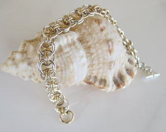 Chain Bracelet: Celtic Style in Silver and Gold