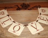 Love Banner, Wedding Banner, Wedding Prop, Engagement Banner, Bridal Shower Banner Love Garland