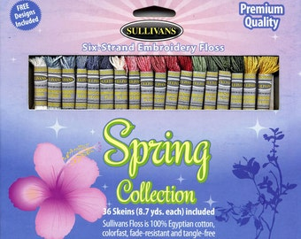 Sullivans Six-Strand Embroidery Floss Pack - Spring Collection, 36 skeins