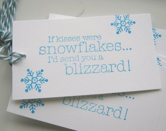 If Kisses Were Snowflakes Gift Tags