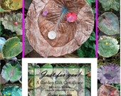 Bird bath / feeder / sculpture stands over flowers - Garden Gift - LET THEM CHOOSE - 75 Dollar Gift Cert - Housewarming or Birthday gift