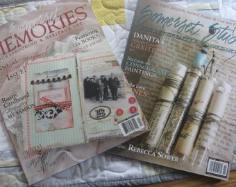 SALE Two 2009 Magazines Somerset Memories and Somerset Studio by Stampington and Company