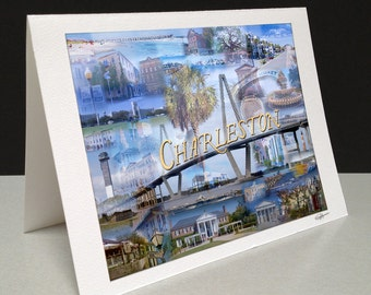 Lowcountry Love 5 x 7 Greeting Card - Charleston, SC