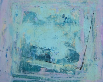 SALE, Original Original Painting on Wood, Abstract. Modern. Art by Francine Ethier