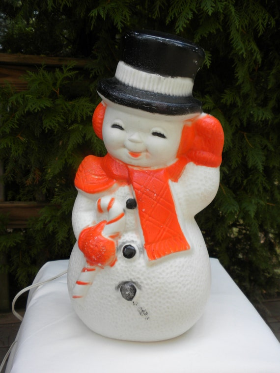 vintage snowman blow mold vintage poloron christmas decor. Black Bedroom Furniture Sets. Home Design Ideas