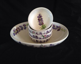 Lavender or lupin  Small bowl