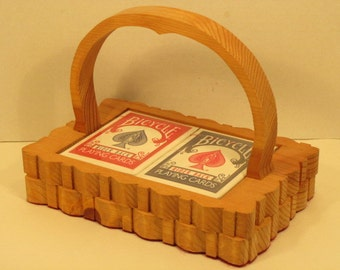 Playing Card Basket Handmade