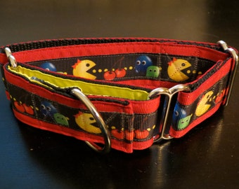 Miss PacMan Martingale Dog Collar (Med)