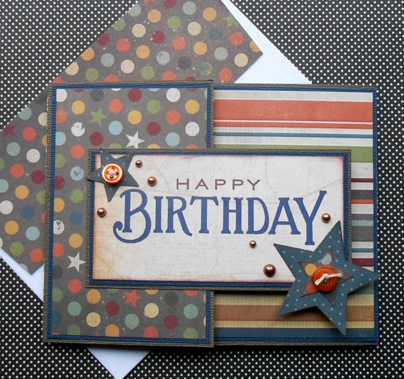 Birthday Card Gift Card Holder With Matching Embellished